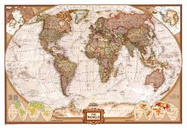 Rio On World Map by World Executive Ngs Buy Antique Look World Map Mapworld