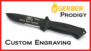 Gerber Kitchen Knives Gerber Prodigy Knife Laser Engraving Youtube