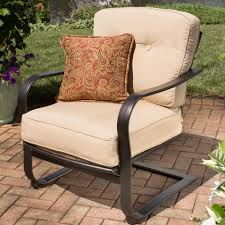 agio heritage outdoor alumicast deep seat spring chair with