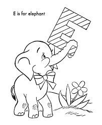 outline elephant coloring
