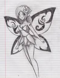 anime fairy drawing draw an anime fairy stepstep drawing sheets
