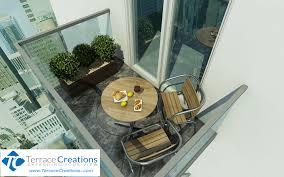 Patio Furniture For Balcony by Condo Balcony Deckingterrace Creations