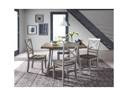 standard furniture fairhaven rustic two tone table and chair set