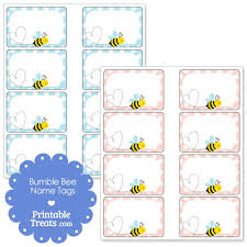 printable name tags printable bumble bee name tags printable treats