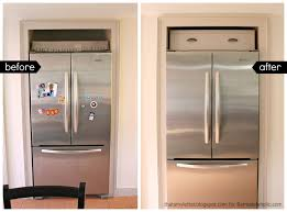 space between top of refrigerator and cabinet refrigerator side panels wood refrigerator surround cabinet above