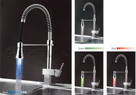 single handle pull led kitchen faucet pullout spray kitchen