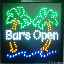 shop open sign lights 2018 bright palm tree bars open motion led sign light cocktail tiki