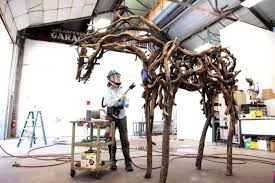the nature of horses u0027 from scrap metal and wood comes to