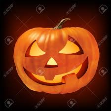 a ceramic halloween jack o lantern pumpkin stock photo picture