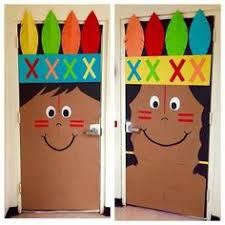 thanksgiving classroom door kindergarten