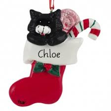 black cat ornament personalized ornaments