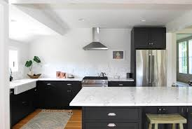 black kitchen cabinets with walls sleek new york kitchen makeover cliqstudios cabinets