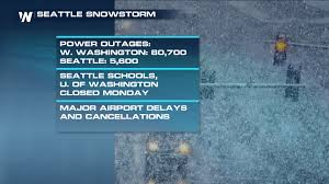 Power Outage Map Seattle by Biggest Seattle Snowstorm In Over 5 Years Shuts Down City