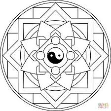 mandala yin coloring free printable coloring pages