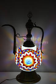 large multi coloured mosaic glass table lamp u2013 lamptastic