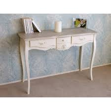 charming 3 drawer console table in a french shabby chic style