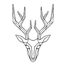 fake deer geometric deer head fake tattoos geometric deer head temporary