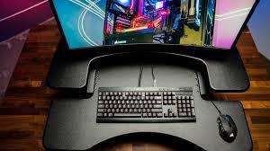 Standing Desk For Gaming Varidesk Standing Desk Gaming 2 Jpg Gamecrate