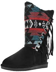 womens size 12 fringe boots amazon com bearpaw womens kathy winter boot mid calf
