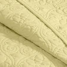 Queen Quilted Coverlet Madison Park Quebec Full Queen Quilted Coverlet Mini Set Yellow