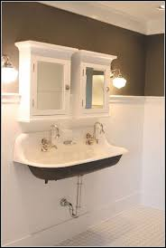 double trough sink for bathroom sinks and faucets home design