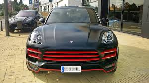 porsche matte red porsche macan ursa by topcar gets unique black and red look