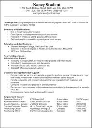 Resume Objective Examples For Students by Free Resume Objective Examples Customer Service