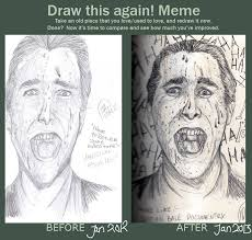 American Psycho Meme - draw this again meme american psycho by ivydillonx on deviantart