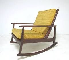 mid century rocking chair woven modern and ottoman at 1stdibs