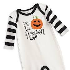 newborn first halloween romper black and orange pumpkin baby