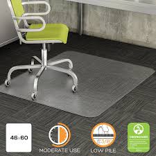 amazon com deflecto duramat clear chair mat low pile carpet use