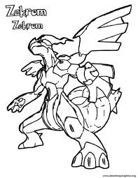 pokemon coloring pages black and white zekrom olegandreev me