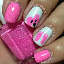 Baby Nail Art Design 1276 Best Pink And Purple Colored Nails Images On Pinterest Make