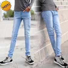 boys light blue tie style 2017 fashion boys light blue slim fit bottoms pencil pants