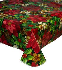 festive christmas tablecloth pvc flannel back xmas design home