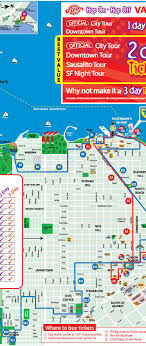 san francisco map sightseeing sf tourist map hop on hop tour of san francisco web map