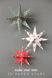 Make Your Own Christmas Decoration - diy 3d paper star christmas decorations gathering beauty