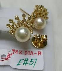 diamond earrings philippines 14k diamond earrings album code 090 jewelry rizal