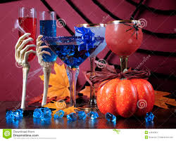 happy halloween ghoulish party cocktail drinks stock photo image