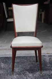 Solid Walnut Dining Chairs by Set Of 6 French Art Deco Solid Walnut Dining Chairs Circa 1940 U0027s