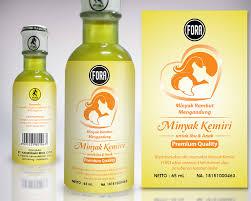 Minyak Kemiri Untuk Anak designers desain label minyak rambut kemiri ibu dan anak