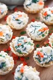 canape cups recipes spinach and artichoke dip phyllo cups the cozy cook