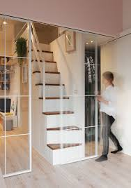 used sliding glass doors space savvy urban apartment designed for a couple and their cat