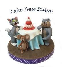 tom and jerry cake topper topper pasta di zucchero tom and jerry cake design cake topper