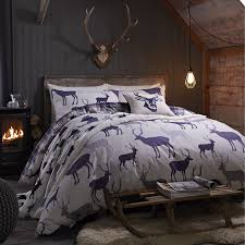 catherine lansfield grampian stag duvet cover set from palmers