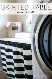 Diy Laundry Room Storage by Skirted Laundry Room Table Renter Friendly Crazy Wonderful