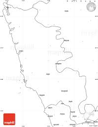 Blank India Map With State Boundaries by Blank Simple Map Of Sindhudurg