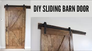 Where To Buy Barn Doors by Diy Sliding Barn Door Youtube