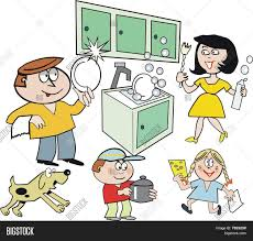 family kitchen cartoon vector u0026 photo bigstock