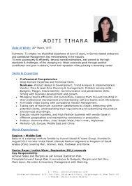 Best Resume Format For Garment Merchandiser by Resume Aditi Tihara